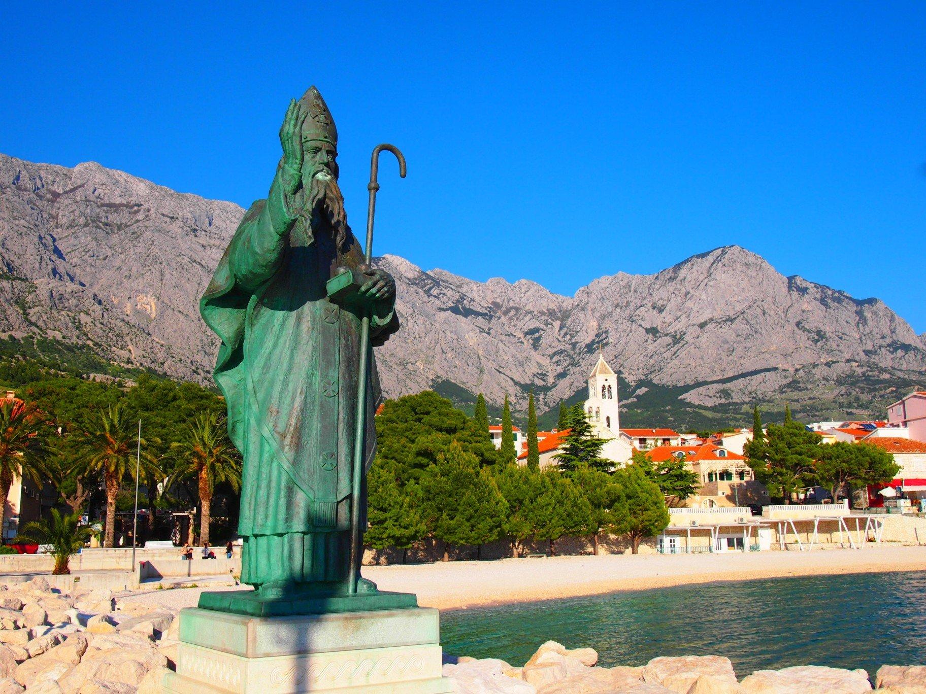 Patron města Baška Voda je sv. Mikuláš