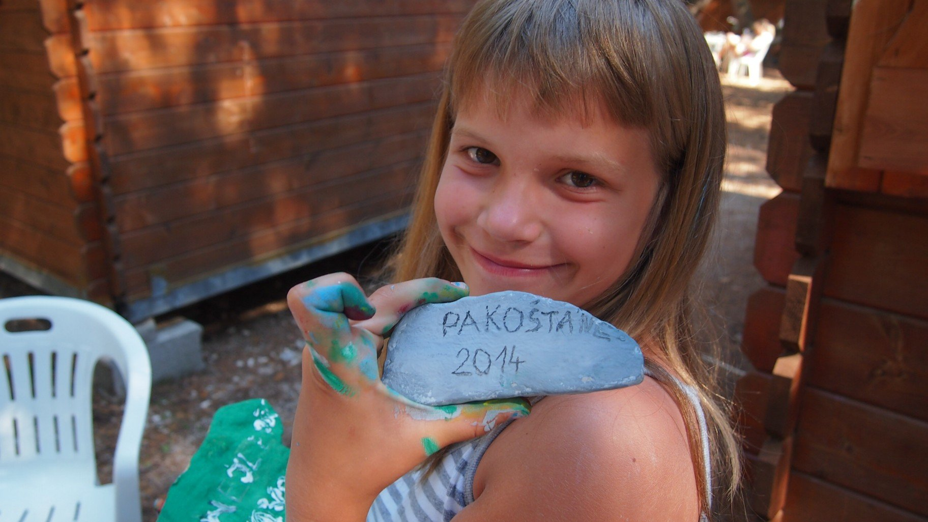 Pakoštane - family week dílničky kreslení na kámen